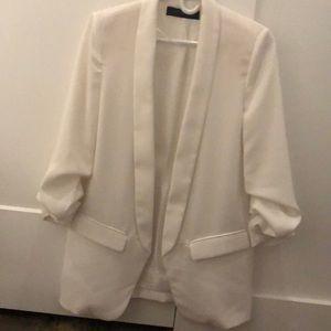 Zara Women's White Blazer
